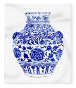 Blue And White Ginger Jar Chinoiserie 4 Fleece Blanket