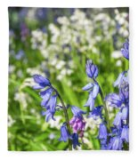 Blue And White Hyacinth Flowers Fleece Blanket