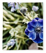 Blue Anemone Fleece Blanket