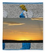 Blue Angels At Sunset Fleece Blanket