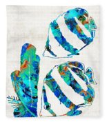 Blue Angels Fish Art By Sharon Cummings Fleece Blanket