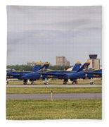 Blue Angels Flight Line Fleece Blanket