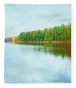 Blue Autumn Fleece Blanket