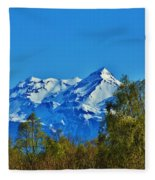 Blue Autumn Sky Fleece Blanket