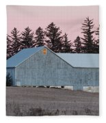 Blue Barn Fleece Blanket