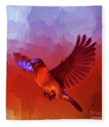 Blue Bird 01  Fleece Blanket