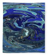 Blue Bird Abstract Fleece Blanket