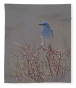 Blue Bird Colored Pencil Fleece Blanket