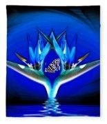Blue Bird Of Paradise Fleece Blanket