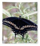 Blue Black Swallowtail Fleece Blanket