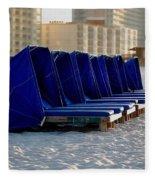 Blue Blocker Fleece Blanket
