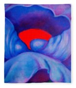 Blue Bloom Fleece Blanket