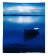 Blue Blue Boat Fleece Blanket