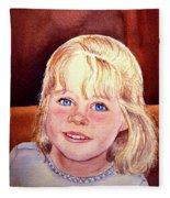 Blue Blue Eyes Fleece Blanket