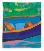 Blue Boat Fleece Blanket