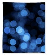 Blue Bokeh Blur Fleece Blanket