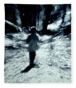 Blue Boy Walking Into The Future Fleece Blanket