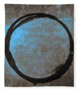 Blue Brown Enso Fleece Blanket by Julie Niemela