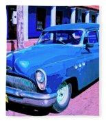 Blue Buick Fleece Blanket