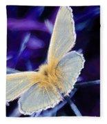 Blue Butterfly Fleece Blanket