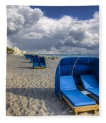 Blue Cabana Fleece Blanket