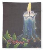 Blue Candle Fleece Blanket