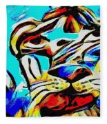 Blue Cat Blue Fleece Blanket