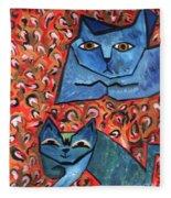 Blue Cats Fleece Blanket