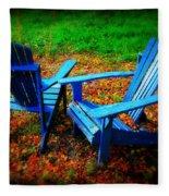 Blue Chairs Fleece Blanket