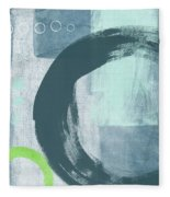 Blue Circles 2- Art By Linda Woods Fleece Blanket