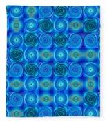 Blue Circles Abstract Art By Sharon Cummings Fleece Blanket