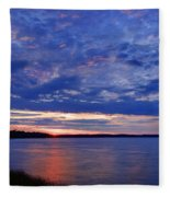 Blue Clouds Fleece Blanket