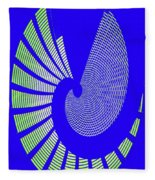 Blue Colored Metal Panel Tempe Center For The Arts Abstract Fleece Blanket