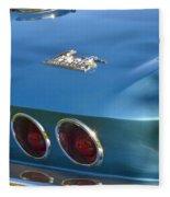 Blue Corvette Stingray Fleece Blanket