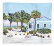 Blue Cottage On Siesta Key Beach, Access 3 Fleece Blanket