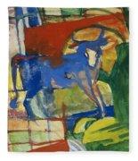 Blue Cow Fleece Blanket