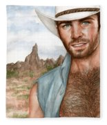 Blue Cowboy Fleece Blanket