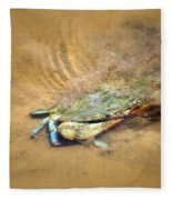 Blue Crab Hiding In The Sand Fleece Blanket