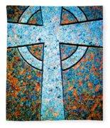 Blue Marbled Cross Fleece Blanket