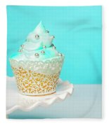 Blue Cupcake Fleece Blanket