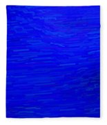 Blue Currents Fleece Blanket
