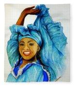 Blue Dancer  Fleece Blanket