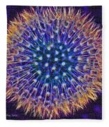 Blue Dandelion Fleece Blanket