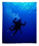 Blue Diver Fleece Blanket