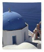 Blue Dome Pink Bell Tower Fleece Blanket