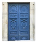 Blue Door In Paris Fleece Blanket