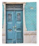 Blue Door, Portugal Fleece Blanket