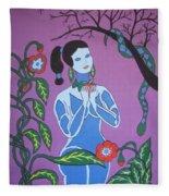 Blue Eve  No. 2 Fleece Blanket