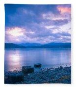 Blue Evening Fleece Blanket