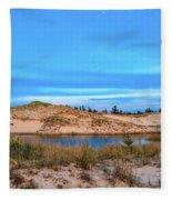 Blue Evening In Ludington State Park Fleece Blanket